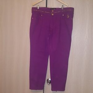 Authentic Baby Phat stretch jeans w/ gold zippers